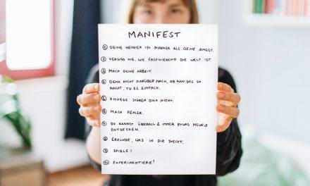 Mein Manifest – 10 Regeln für ein kreatives Leben