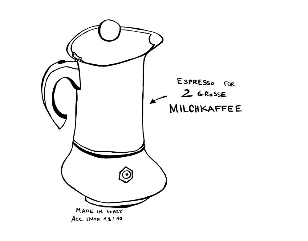 Espresso Zeichnung